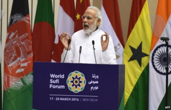 PM address at the World Sufi Forum on March 17, 2016