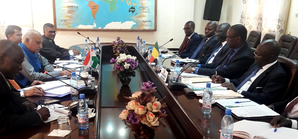 MoS MJ Akbar co-chairs 1st JCM with Mali's Foreign Minister Abdoulaye Diop in Bamako - 2 March 2017