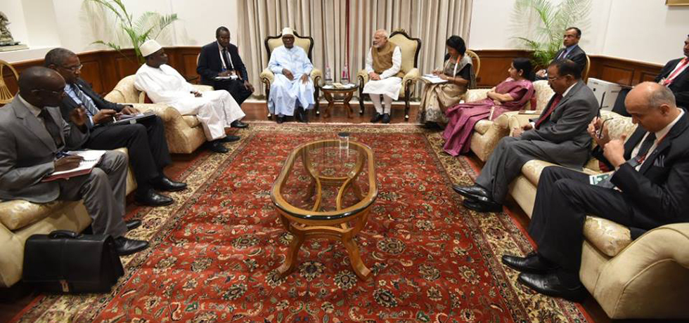 Bilateral Meeting between President of Mail and Prime Minister of India on the sidelines of ISA Founding Conference - 11 March 2018