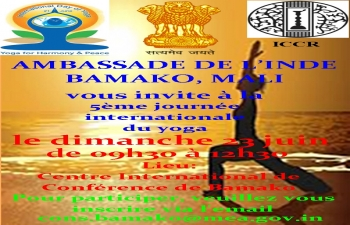 Organisation of 5th International Day of Yoga 2019 by Embassy of India,  Bamako, Mali on 23 June 2019