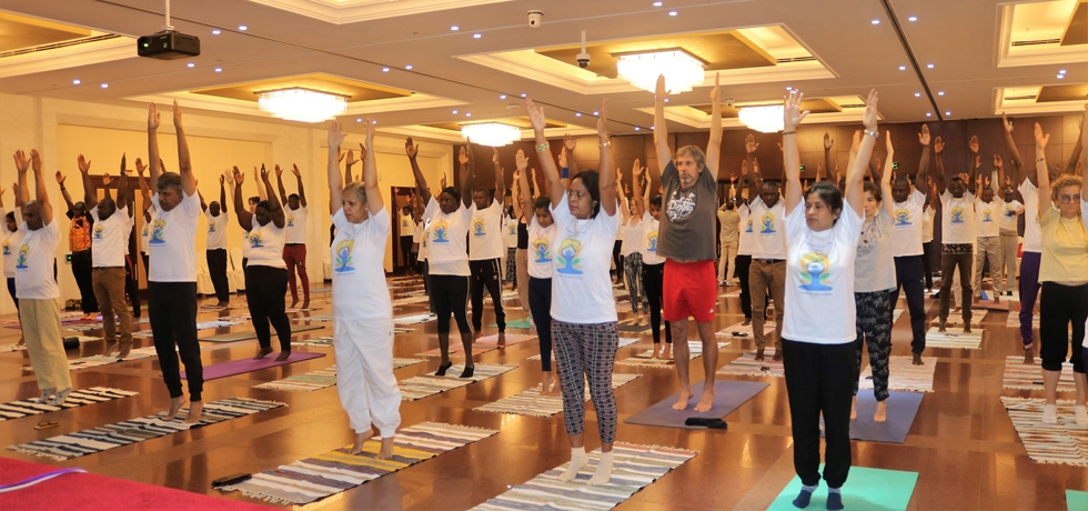 Celebration of 5th International Day of Yoga at Bamako (Mali) 23 June 2019.