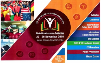 Higher Education Summit & Exhibition 2019 is being organized at Vigyan Bhawan, New Delhi, from 27-29 November 2019.