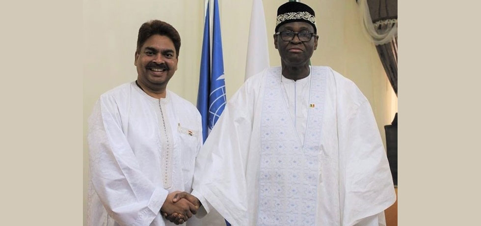 Amb Anjani Kumar called on H.E. Mr. Tiébilé Dramé, Minister of Foreign Affairs & International Cooperation of the Republic of Mali on 14 February 2020.