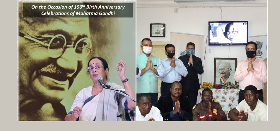 Online Gandhi Katha programme by Dr. Shobhana Radhakrishna on 18 September 2020 - Embassy of India, Mali