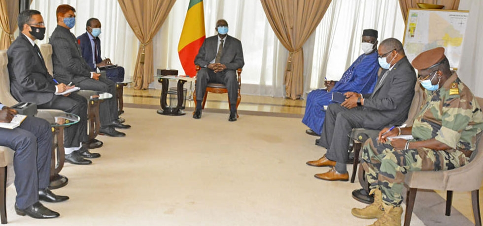 Amb. Anjani Kumar called on H.E. Mr. Bah N'Daw, Mali's President of the Transition - 12 October 2020