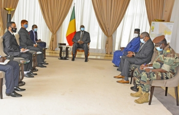 Calling on H.E. Mr. Bah N'Daw, Mali's President of the Transition by  Amb. Anjani Kumar