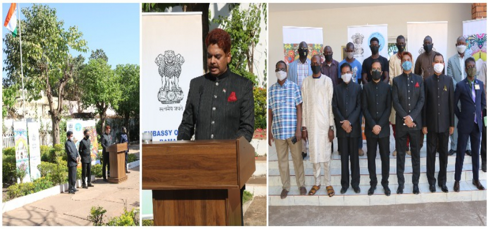 Celebrating 72nd Republic Day of India in Mali