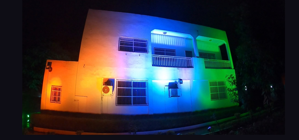 Embassy Building Illuminated during Independence Day 15 Aug 2021